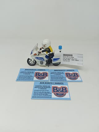 MOTO DE POLICÍA PLAYMOBIL