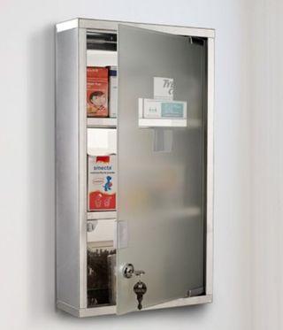 botiqun de acero y noxidable puerta de crital
