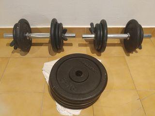 pesas,mancuernas,juego de pesas.