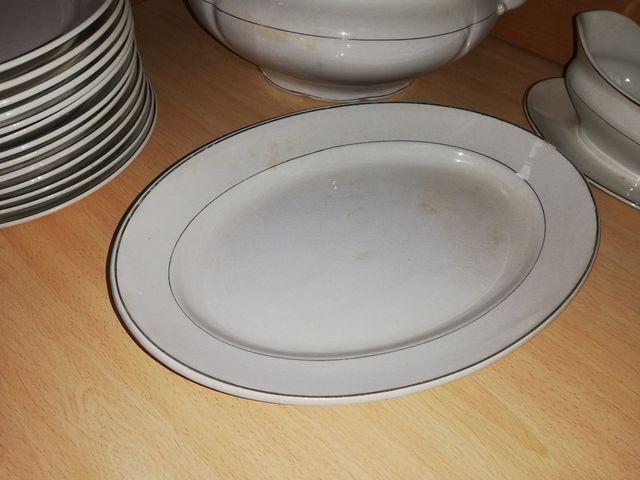 Vajilla Porcelana Blanca San Claudio