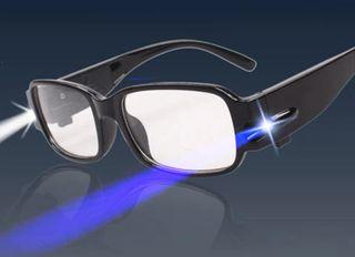 Gafas de Lectura con Linterna LED y Aumento!