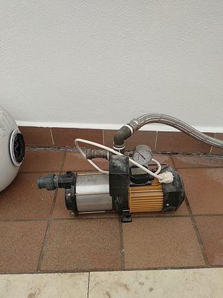 Bomba de Agua. Acumulador y Motor. 50L llenado