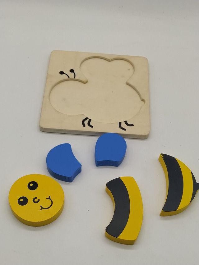 Juguete puzzle madera bebe