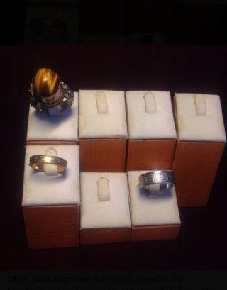 Expositores para anillo de madera, varios tamaños
