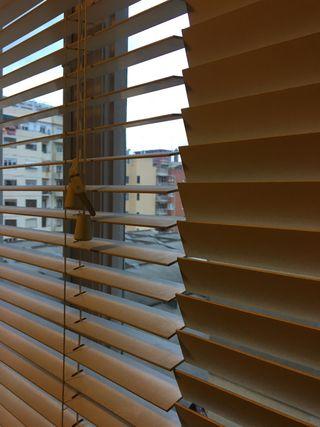 Persiana cortina de madera