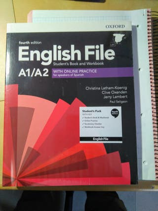 Libro English File A1/A2 con cuadernillo