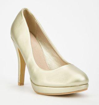 Zapatos de fiesta dorados. Nuevos. T36. Franceses