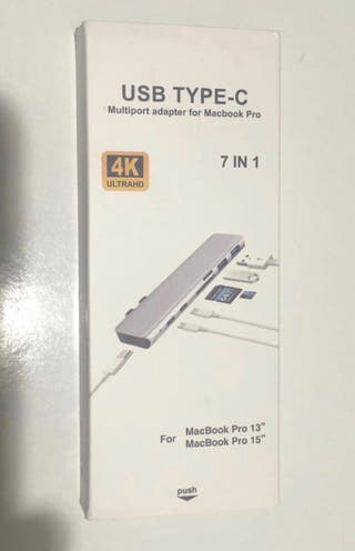 """USB TYPE-C 7en 1 MacBook Pro 13""""-15"""""""