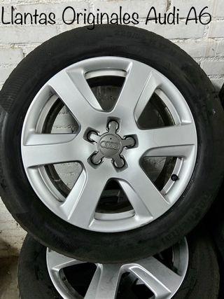 """4 llantas y neumáticos 17""""Audi A6 Originales 2012-"""