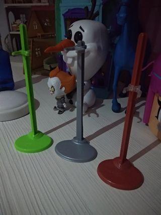 3 soportes muñeca Monster high