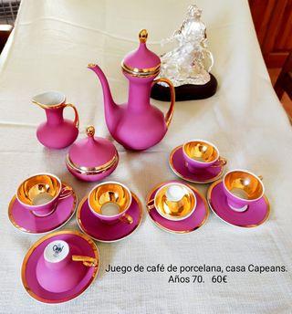Juego de café porcelana Capeans