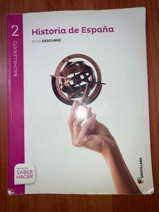 Libro Historia de España 2 Bachillerato Santillana