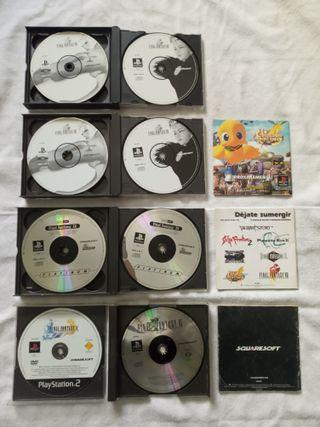 PSX Final Fantasy VIII x 2 + FF IX + FF VI