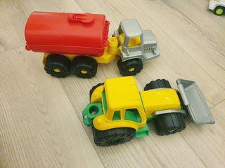 Excavadora y Camion Cisterna juguete