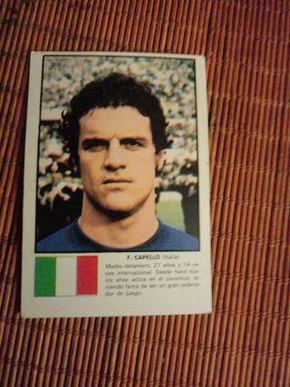 CROMO F. CAPELLO MUNDIAL 1974
