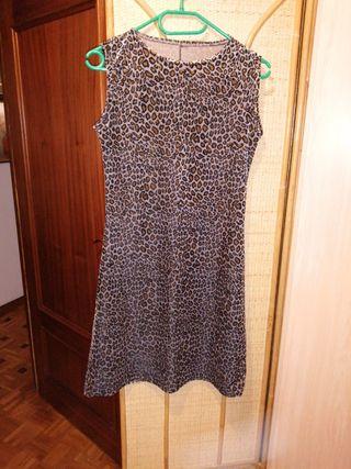 Vestido estampado leopardo Talla S