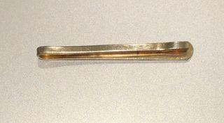 Pince à cravate Vintage 70's métal doré
