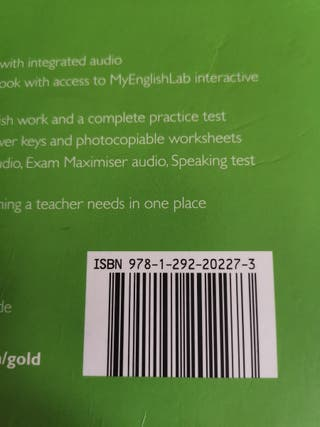 GOLD B2 First New Edition, Pearson, Coursebook