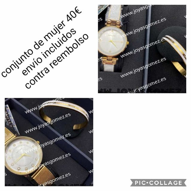 estuche mujer reloj malla