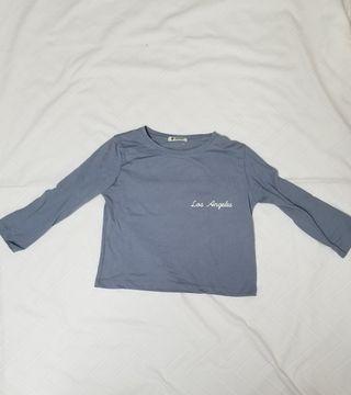Camiseta manga 3/4 crop
