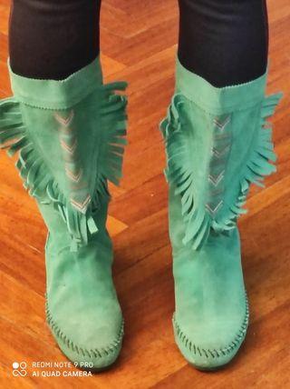Botas Ante verdes