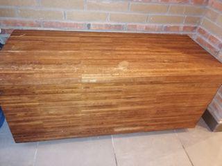 baúl madera maciza