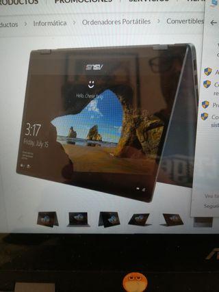Portátil Asus 2 en 1, táctil y tablet.