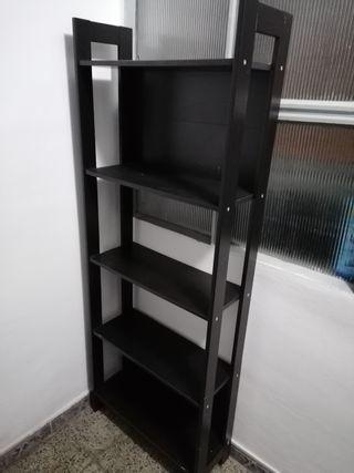 URGE Estantería librería negra wengue madera