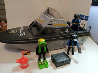 Playmobil lancha Policía