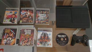 PlayStation 3 con 7 juegos y mando