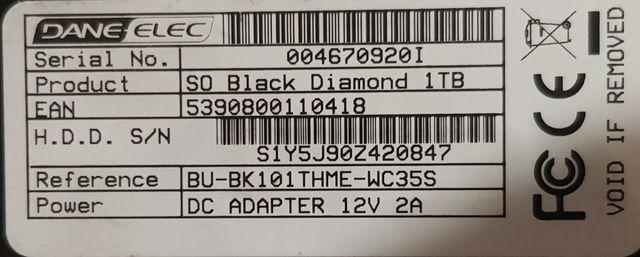 Disco duro externo 1Tb.