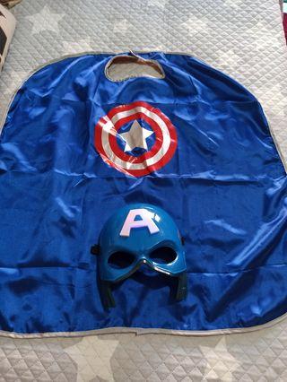 Capa y máscara Capitán América