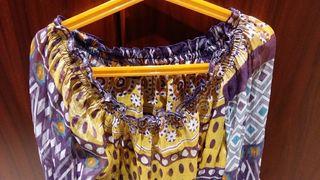 blusa estampada transparente nueva