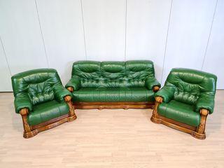 Sofas De Piel Y Roble color Verde Rusticos