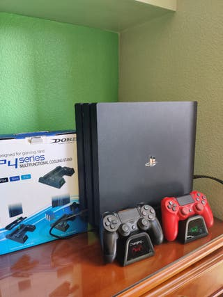 PS4 PRO 1 TB+ Mando v2+ Base Cooler Dobe