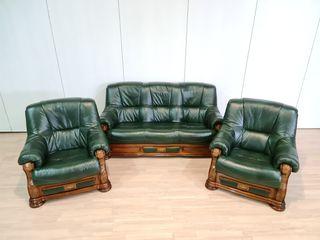 Sofas De Piel Rusticos Verdes