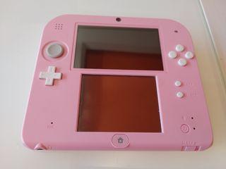 nintendo 2ds rosa y blanca