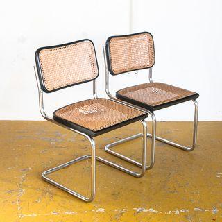 Pareja sillas Cesca. Italia, 70s. Para restaurar