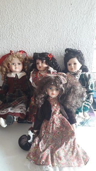 Muñecas De Ceramica/Porcelana Antiguas México