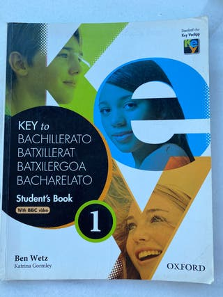 Bachiller 1 ingles Key To Student's book Oxford