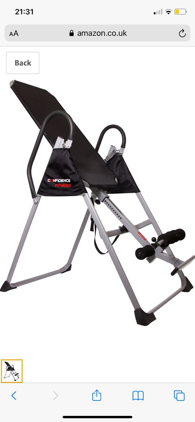 Confidence fitness inversion table