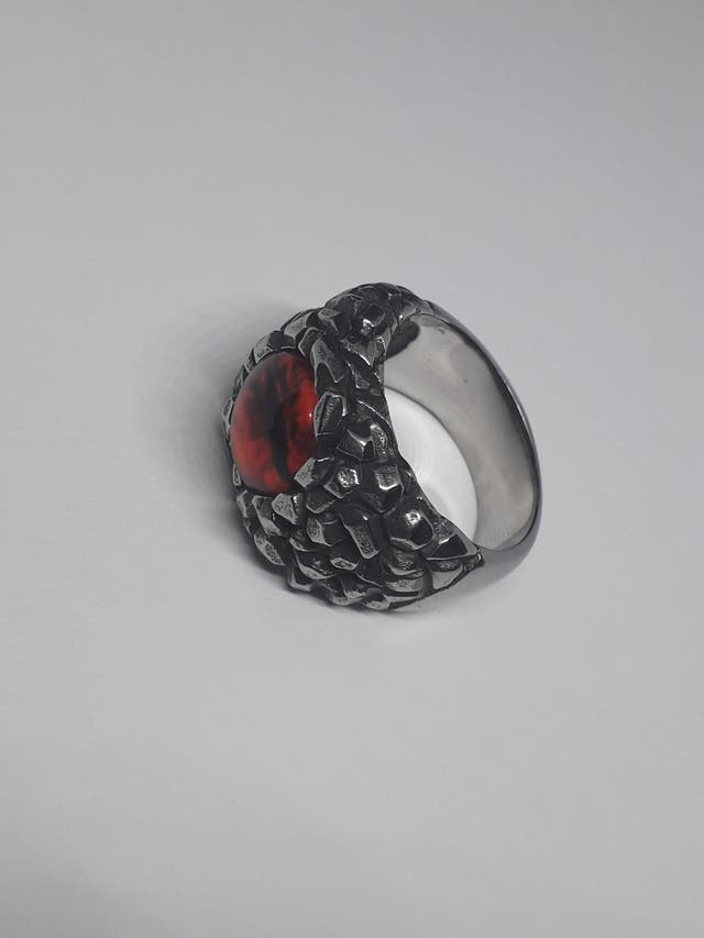 Steel Soldier Eye of The Dragon Ring Stainless