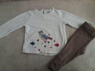 Camiseta y leggins Zara 12-18m
