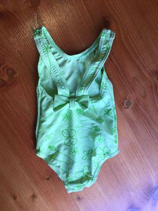 Bañador verde niña 6-12 meses