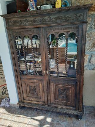 mueble madera 2 puertas