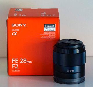 Sony objetivo gran angular 28 mm 2.0