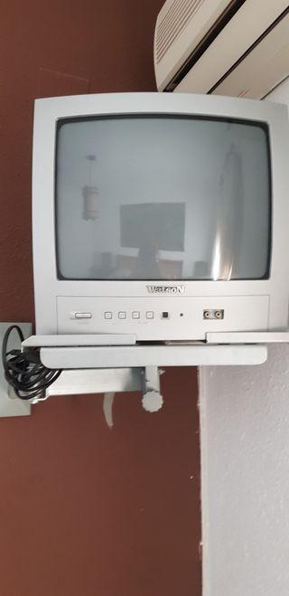 tv 14 pulgadas , soporte y tdt
