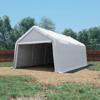 Carpa de almacenamiento PVC blanca 550 g/m² 4×6 m