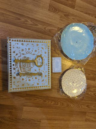 Wedgwood two tier Polka Dot cake stand