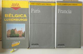 lote guías de viajes, Francia, Paris y Bélgica